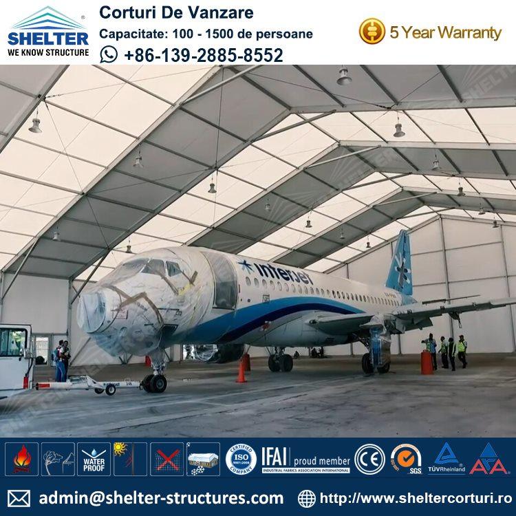 Hangar de avion 20 de 40 metri cu înălțimea de 6.4m
