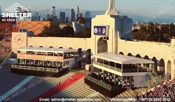 10 x 25m Dubla Decker Cort de salon la Los Angeles Memorial Coliseum