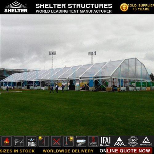 Span 30m cort poligonal folosit pentru Outdoor Forum Venue